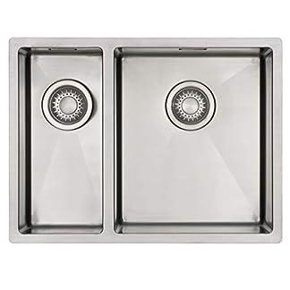 Fregadero de Cocina Mizzo Linea 18-34 | Acero Inoxidable 304 | Mueble de 60 cm | Montaje Bajo o Sobre Encimera o al Ras | Radio 10mm | 1.5 Seno