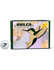 ICICLES Women's V Golf Humming Bird Ball, White by Icicles