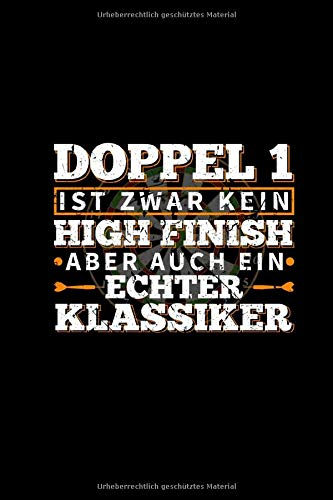 Doppel 1 High Finish: Dart Buch A5 Kariert - Dartfan Dartspieler - Dartboard Dartscheibe - Bullseye 180 - Dartsport Kalender 2020 Monatsplaner