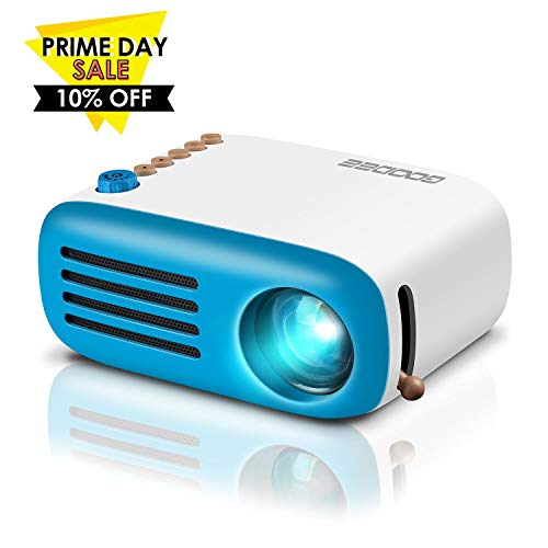 GooDee Mini Projector, LED Portable Projector Pocket Pico Projector Great  Gift for Kids, HD 1080P Supported HDMI Connect to PC Laptop Xmas Gift for