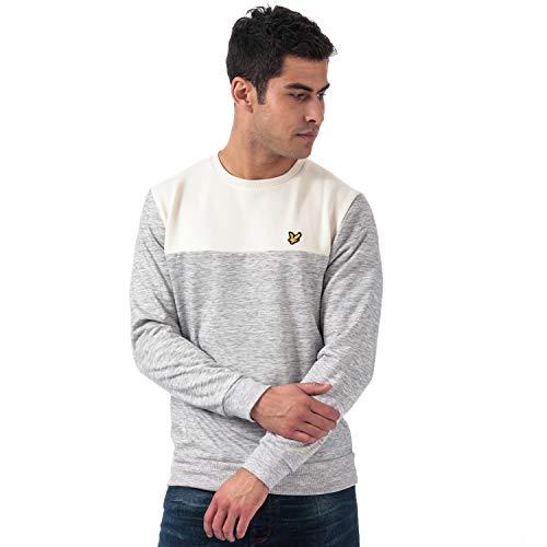 Lyle & Scott Herren Sweatshirt Space Dye, Größe:XL, Farbe:Seashell White