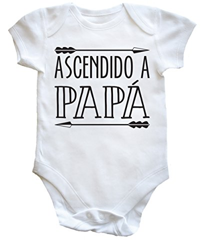 HippoWarehouse ASCENDIDO A PAPÁ body bodys pijama niños niñas unise