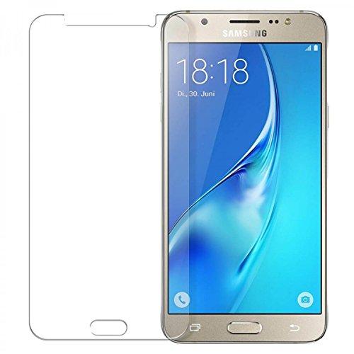 Preisvergleich Produktbild 2 x eFabrik Panzerglas für Samsung Galaxy J5 2016 DUOS Panzerfolie Hartglas Glasfolie Set 9H kratzfest