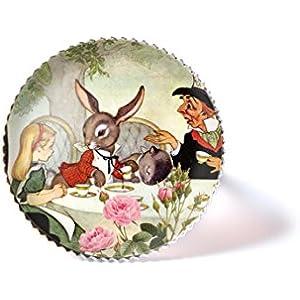 Ring mit Cabochon, Alice im Wunderland