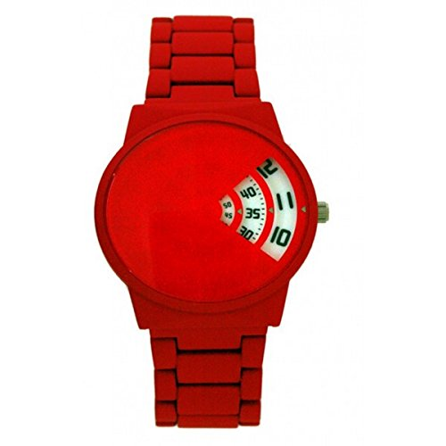 softech-mens-red-rubberised-metal-strap-jump-hour-white-disk-display-wrist-watch-analog-quartz-fold-