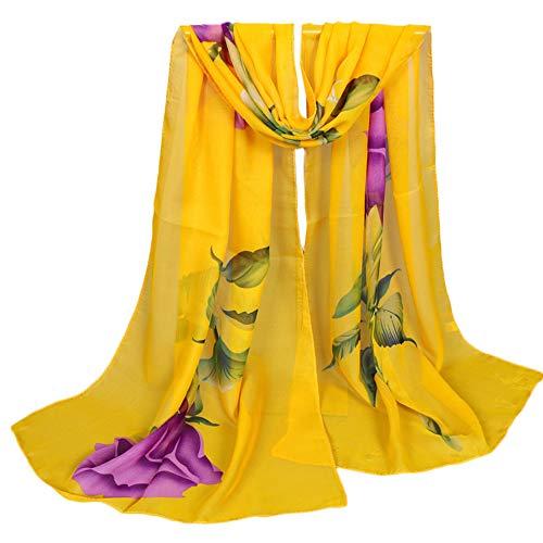 YEARNLY Strandtuch Chiffon Bedrucktes Rose Strandtuch Schnell trocknend Slim Sunscreen Anti UV Beach Towel Strandtuch Schal 9Farben ()