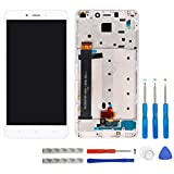 swark LCD Display für Xiaomi Redmi Note 4 (not fits for Xiaomi Redmi Note 4X or Xiaomi Redmi 4X) Weiß Touchscreen Digitizer Assembly Glas + Rahmen+Tools