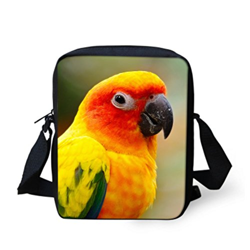 showudesigns , Borsa Messenger  multicolore eagle birds