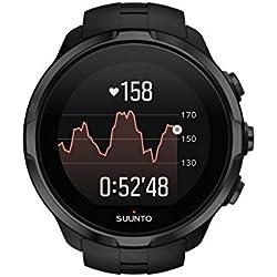 Suunto - Spartan Sport Wrist HR - SS022662000 - Reloj GPS Multideporte - Sumergible hasta 100m - Pulsómetro de muñeca - Pantalla táctil de Color - Negro - Talla única