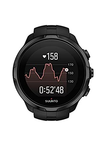 Suunto, Spartan Sport Wrist HR, Montre GPS Multisport pour Athlètes, 12h d'autonomie, Étanche jusqu'à 100 m, Cardiofréquencemètre au poignet, Écran tactile couleur, Noir, SS022662000