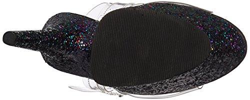 Donna 708lg Scarpe Tacco Holo Blk Clr Col Transparent Adore Glitter Pleaser RSFqff