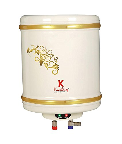 Kwality 10-Litre 2000-Watt Storage Water Heater with Stainless Steel Tank (5 Star Rating)