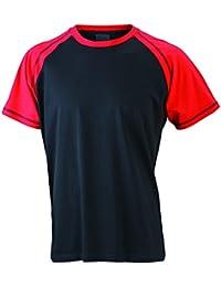 JAMES & NICHOLSON Men's Raglan-T, T-Shirt Homme
