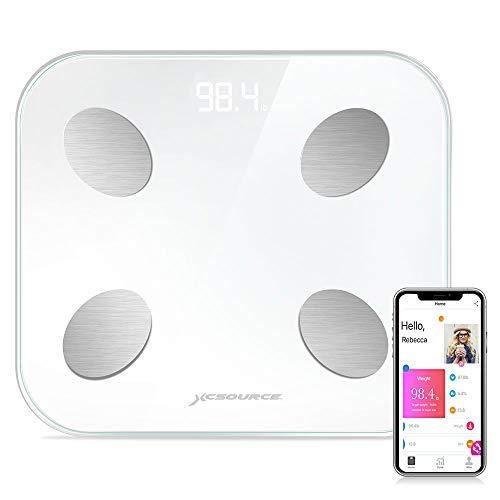 XCSOURCE BT-Körperfettwaage, digitale Personenwaage für Körpergewicht , Body Composition Analyzer Funktioniert mit Android und IOS-APP