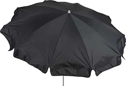 beo Sonnenschirme wasserabweisender, rund, Durchmesser 200 cm, anthrazit/schwarz