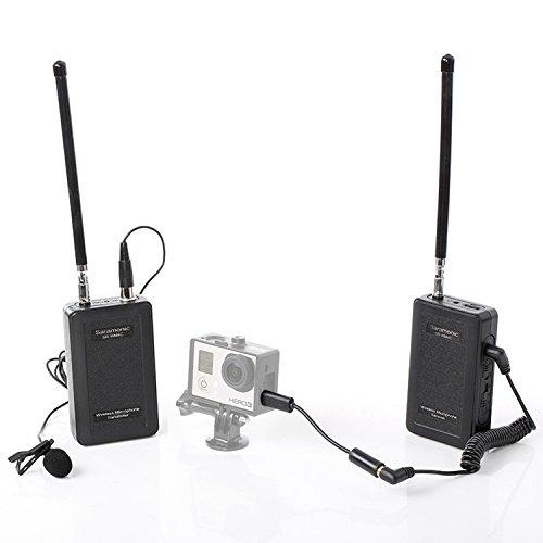 Saramonic SR-WM4C 4-Channel UHF Drahtlos Mikrofon, Lavalier Mikrofon Kabellos,Ansteckmikrofon Kamera,Lavalier-Mikrofon wireless,Ansteckmikrofon Kabellos für ENG, EFP, DV, Canon Nikon Sony DSLR-Kamera Camcorder Audio Recorder GoPro Hero 4 3 3+