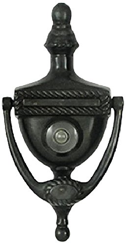 Deltana DKV6RU10B Victorian Rope Design and 3-7/8-Inch Center to Center Door Knocker Viewer by Deltana (Center-viewer)