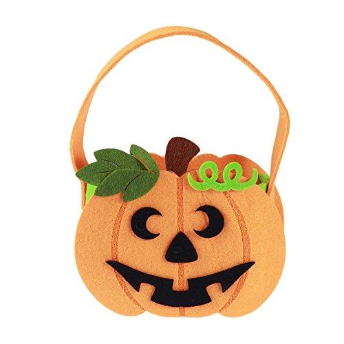 Healifty Halloween-Süßes sonst Gibt's Saures Taschen Kürbis-Tasche für Kinderkinder Spaß