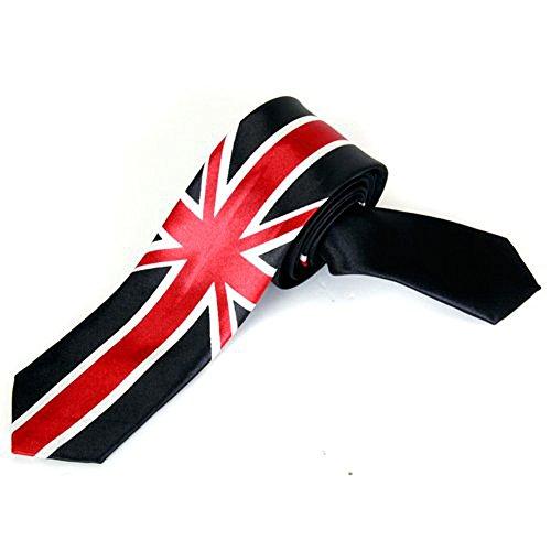 SODIAL(R) Unisex Freizeit Krawatte Skinny Schmale Krawatte - Union Jack