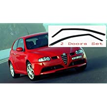 AC WOW - 2 deflectores de Viento para Alfa Romeo 147 3 Puertas 2000 – 2010