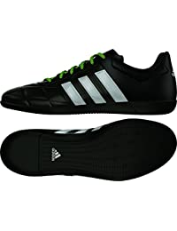 adidas Ace 15.3 In Leather - Botas para hombre, color negro / plata / amarillo