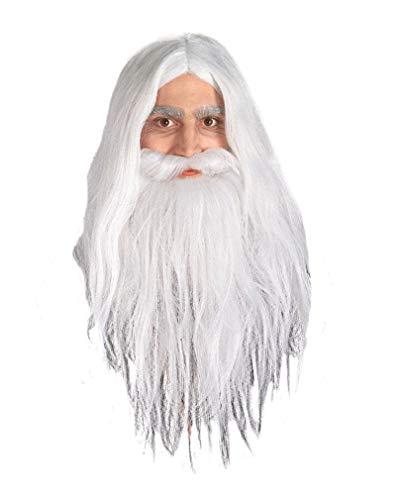 Kostüm Gandalf Graue Der - Gandalf Perücke und Bart Set