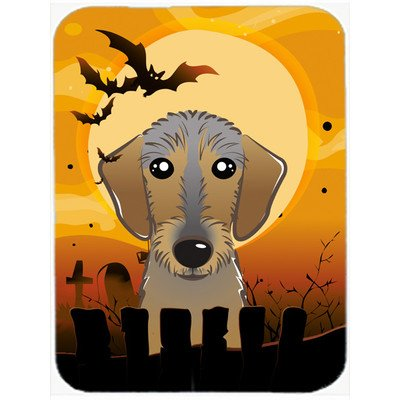 Halloween Wirehaired Dachshund Glass Cutting Board Large BB1791LCB