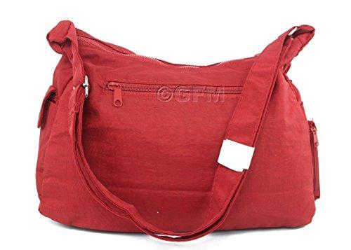 Da donna GFM resistente misura media multiuso Tessuto in Nylon borsa a tracolla Style 2 - Olive (JTNAK)