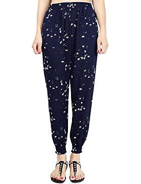 WanYang Pantalones Para Mujer Verano Pantalones Harén Pantalón Suelta Pantalón Retro Print
