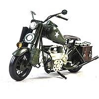 Antigüedad de la segunda guerra mundial militar de la motocicleta modelo de hojalata hecho a mano arte retro de hierro casa decoración decoración de coches arreglo fotografía accesorios 38 * 15 * 21cm