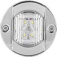 Luz para barcos marinos, 12V 2,2 W, impermeable, LED, acero inoxidable, barco marino, espejo de popa, ancla blanca, lámpara de navegación de popa