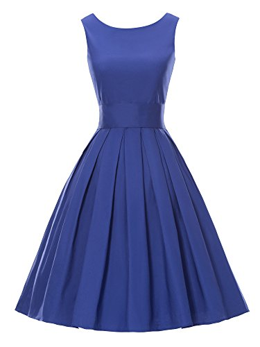 LUOUSE  Lana' Vintage 1950's Inspired Swing Evening Dress
