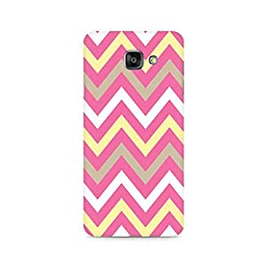 High Quality Printed Cover Case for SAMSUNG A510 2016 Model - Yellow And Pink Broad Chevron