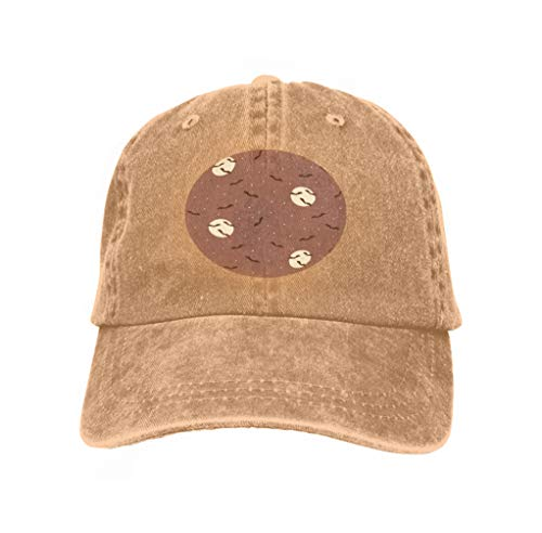 Adjustable Cotton Hat Fashion Cotton Denim Baseball Cap Halloween Bats Night Sky Creepy Scene Flying Moon Stars desi Sand Color