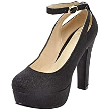 5279587cef983 RAZAMAZA Zapatos de Tacon Alto para Mujer
