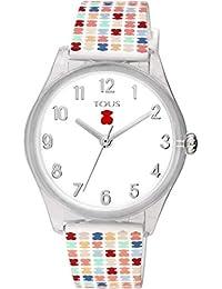 Reloj Tous 900350255 Tartan Kids de policarbonato con Correa de Silicona 36,5 mm.