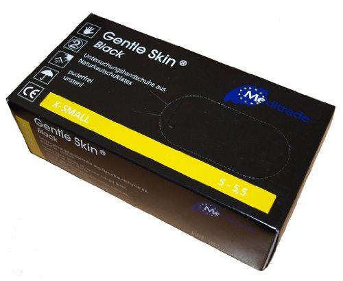 Doux pour la Peau-Noir-Lot de 100 gants d'examen Latex de caoutchouc naturel, Powderfree, Non stérile (Taille XL)