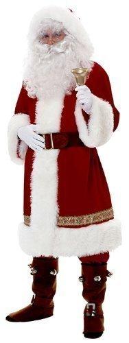 Uomo professionale lusso tradizionale cappuccio velluto babbo natale babbo natale costume vestito