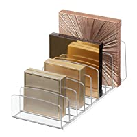 """iDesign Clarity Vertical Plastic Palette Organizer for Storage of Cosmetics, Makeup, and Accessories on Vanity, Countertop, or Cabinet, 9.25"""" x 3.86"""" x 3.20"""","""