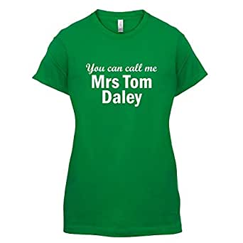 You can call me Mrs Tom Daley - Womens T-Shirt-Green-XXL
