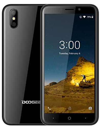 DOOGEE X50 Dual SIM 3G Handy Ohne Vertrag Günstig - 5,0 Zoll, (Android GO) Android 8,1 Smartphone Ohne Vertrag 1GB RAM 8GB ROM, 2000mAh, Dual 5.0MP Rückfahrkamera, Gesichtserkennung ID, Schwarz