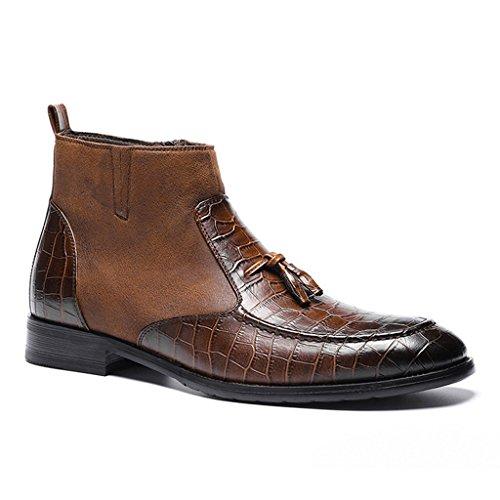 Haut Hommes Chaussures en Cuir Véritable Business Affaires Formelles en Cuir Chaussures De Marche Occasionnels 38-44