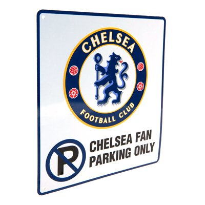 Official Chelsea FC Metal No Parking Sign - A Great Gift / Present For Men, Boys, Sons, Husbands, Dads, Boyfriends For Christmas, Birthdays, Fathers Day, Valentines Day, Anniversaries Or Just As A Treat For Any Avid Football Fan Test