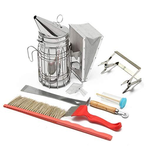 Janolia Bienenzuchtwerkzeug-Set, 8-in-1, Imkereizubehör, Imkerei-Werkzeug-Set für professionelle Einsteiger Imker