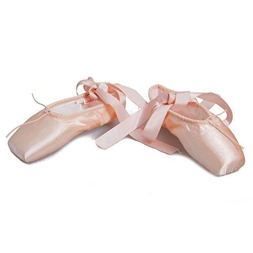 HROYL Donna I-ZAB Scarpe da Ballo di Balletto/Scarpe da Ballo Rosa