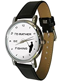 I 'd Rather BE FISHING diseño reloj, gran regalo para todos los pescadores