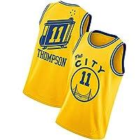 PUS Klay Thompson # 11 Golden State Warriors, Camiseta Deportiva sin Mangas con Bordado clásico para Hombre, Chaleco de Jersey Transpirable de Malla Informal Retro 1-L