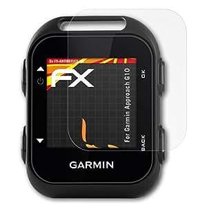 Garmin Approach G10 Protezione Pellicola dello Schermo - 3 x atFoliX FX-Antireflex-HD ad alta risoluzione antiriflesso Pellicola Protettiva Pellicola Proteggi