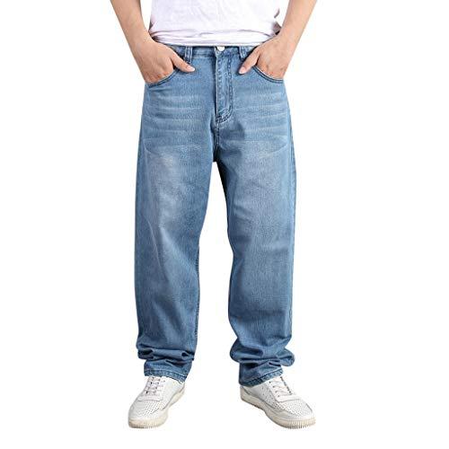 Gingham Denim Kurze (JKLEUTRW Herren Hosen Sportliches Männer Stretchy Zerrissene Dünne Jeans Reine Farbe Slim Fit Vintage Denim Hosen Zipper Hohe Qualität Jeans Core Stretch Persönlichkeit Freizeithose)