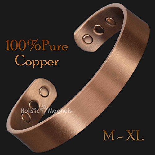 """Magnetisches Armband aus reinem Kupfer, Magnettherapie zur Schmerzlinderung, gegen Arthritis, für Damen und Herren, kupfer, M: Wrist 16 - 19cm/6""""- 7.5"""""""